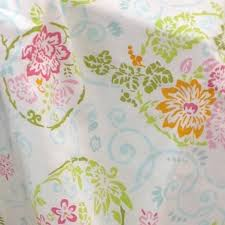 Pink Flower Shower Curtain Ambience Floral Fabric Shower Curtain Newport Home Interiors