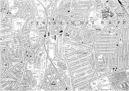 map pattern map of catford in the late 1940s ideal homes