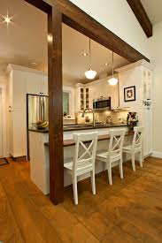 kitchen island posts post and beam design ideas dining room farmhouse with kitchen