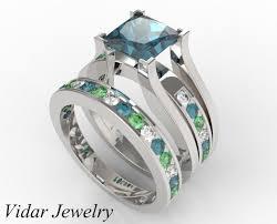 color wedding rings images Multi color diamond triple ring set rings custom order for jpg