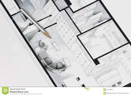 architectural drawing of apartment stock illustration image