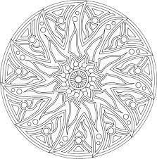 Dessins Gratuits à Colorier  Coloriage Mandala Fleurs à imprimer