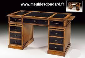 bureau en merisier table bureau à tiroirs en merisier réf dh 080