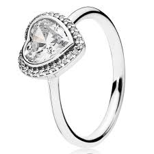 Pandora Wedding Rings by Pandora Sparkling Love With Clear Cz Ring Pancharmbracelets Com