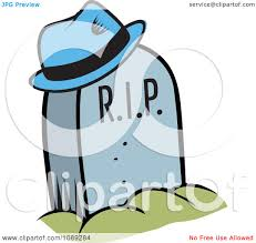 graveyard clipart clipart blue hat hung on a rip tombstone royalty free vector