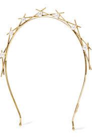 pearl headband lelet ny da vinci gold plated faux pearl headband net a porter