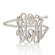 Sterling Silver Monogram Jewelry Personalized Monogram Necklace Silver Monogram Necklace 1