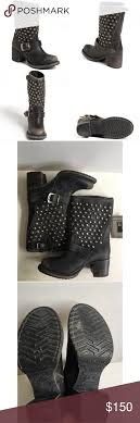 short black motorcycle boots frye vera disc stud short black motorcycle boots size 6 new without