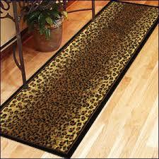 Leopard Runner Rug Pretentious Animal Print Rug Runners Luxurious And Splendid Runner