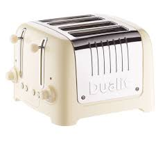Dualit Toaster Not Working Buy Dualit Dl4c 4 Slice Toaster Cream Free Delivery Currys