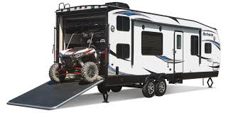 2015 octane toy hauler camper dans rv sales llc strong made for big toys strong thanks to added height underneath