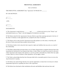 prenuptial agreement free template word u0026 pdf