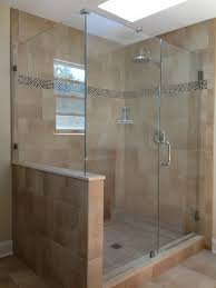 do we put a half wall showerman frameless shower door bathroom