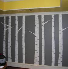 diy wall mural diy wall painted birch tree wall art mural gray diy wall mural diy wall painted birch tree wall art mural gray yellow white