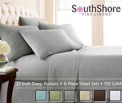 softest affordable sheets amazon com southshore fine linens extra deep pocket sheet set