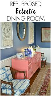 one room challenge reveal repurposed eclectic dining room at