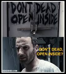 Walking Dead Rick Meme - image the walking dead season 1 meme rick hospital sign deadshed