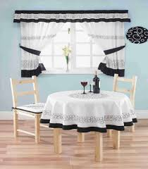 Curtains For Dining Room For White Black And White Country Dining Room Sheer Curtains And