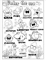 under the sea worksheets sea animals worksheet free esl