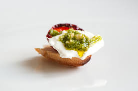 canape toast caprese canapés delicious from scratch