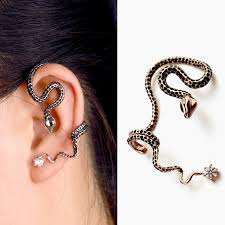cuff piercing migga 1 peice black dot snake ear cuff no piercing clip earrings
