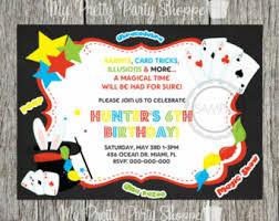 magic show birthday party invitation printable