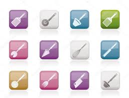 Kind Of Kitchen by Different Kind Of Kitchen Accessories And Equipment Icons U2014 Stock