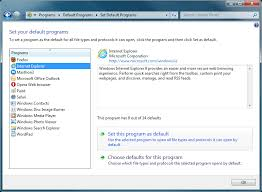 how to change default browser in windows 7