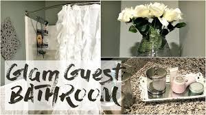 Glam Home Decor Home Decor Haul Glam Guest Bathroom Youtube