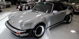 porsche 911 turbo silver 1989 porsche 911 turbo cabriolet sold