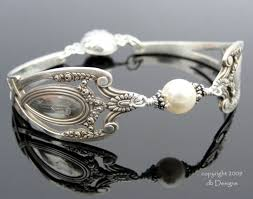 antique sterling silver bracelet images Lunt monticello spoon bracelet with pearl jpg