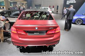 first bmw m5 2018 bmw m5 first edition rear at the iaa 2017 live indian