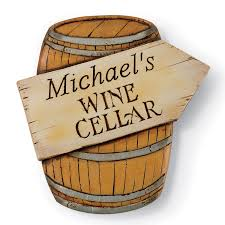 Wine Barrel Home Decor Personalized Wine Cellar Barrel Sign Wine Enthusiast