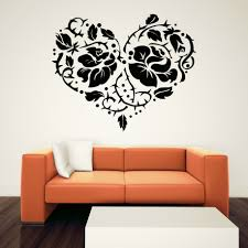 wall decals moroccan color the walls of your house wall decals moroccan sweet heart floral moroccan wall decals design modern orange sofa