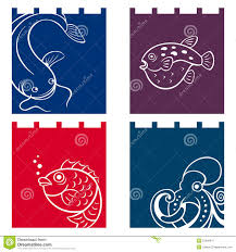 fish fabric designs stock vector illustration of culture 51599477
