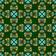 Muster Blau Grün Hintergrund Gr禺n Nahtloses Muster Mit Gold Und Blaue Blumen