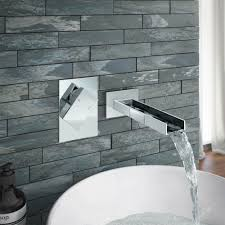 milan wall mounted waterfall basin spout with manual valve online