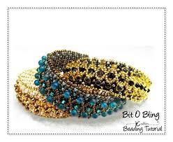 bracelet beading pattern images Peyote bracelet beading pattern tutorial bit o bling etsy jpg