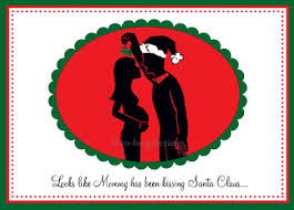 to be greetings mommy silhouette pregnancy christmas cards