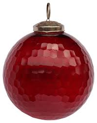 ornament u2013 red impact hand painted christmas tree decoration