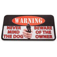 Funny Doormat Sayings Beware Of Owner Doormat 297400 Rugs At Sportsman U0027s Guide