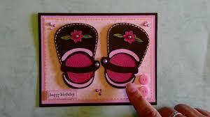 Cricut Birthday Card Cricut Baby Or Little Girl Shoe Happy Birthday Card Kates Abc