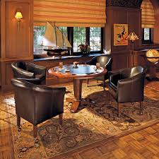 Poker Dining Table by Person Poker Table In Mahogony Or Walnut And Choice Of Leather Top