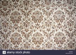 vintage wallpaper with brown ornaments stock photo royalty free