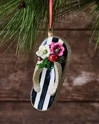 mackenzie childs st tropez flip flop glass ornament
