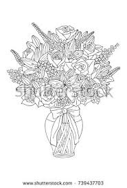 Drawings Of Flowers In A Vase Flower Vase Outline Stock Images Royalty Free Images U0026 Vectors
