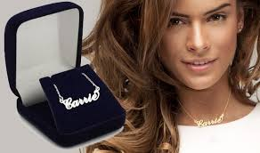 carrie name necklace carrie style name necklaces a great personalised gift save up