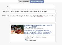 new post your parties on facebook evite