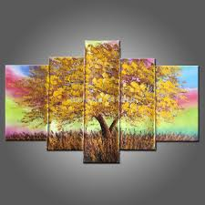 Rainbow Home Decor by Online Get Cheap Hand Painted Rainbow Wall Art Aliexpress Com