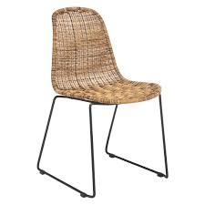 Modern Wooden Chairs For Dining Table Mickey Synthetic Rattan Dining Chair Buy Now At Habitat Uk